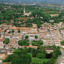Montebelluna, vista dall'alto